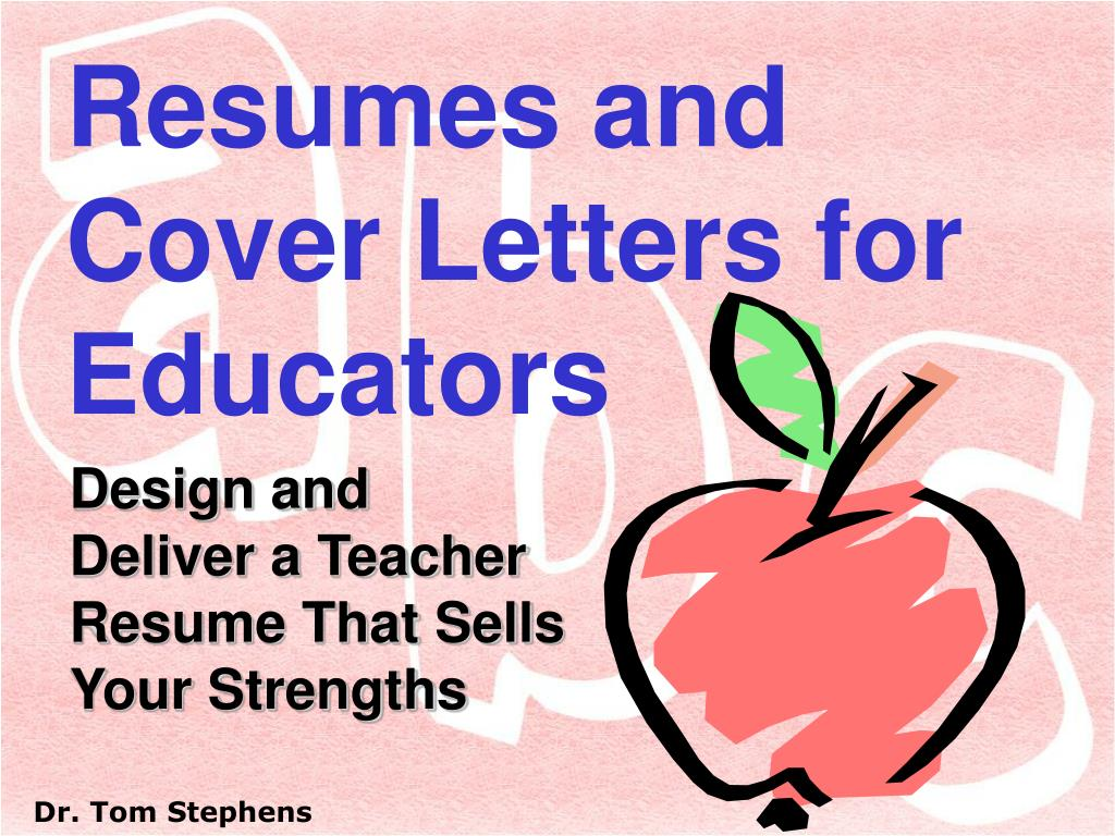 resumes and cover letters for educators The perfect teacher resume for your perfect job plus matching cover letters boost your confidence with easy-to-use microsoft word documents.