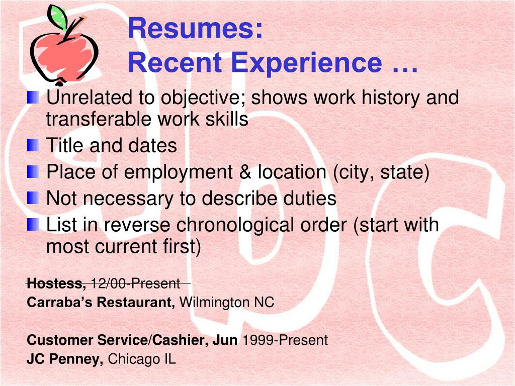 ppt resumes and cover letters for educators powerpoint