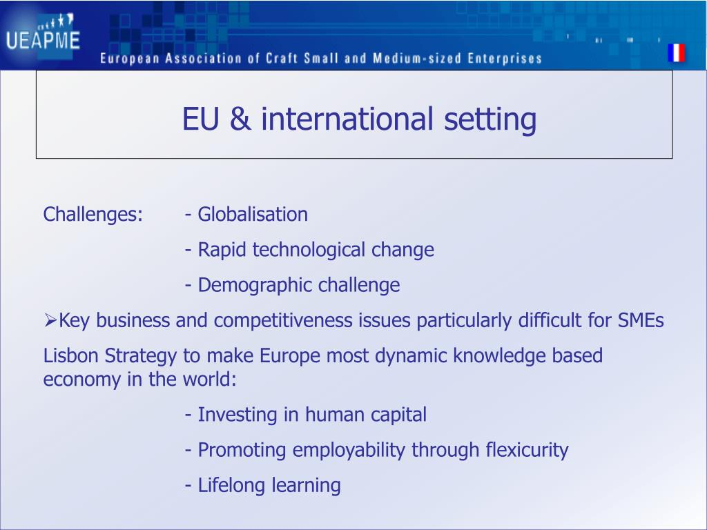 EU & international setting