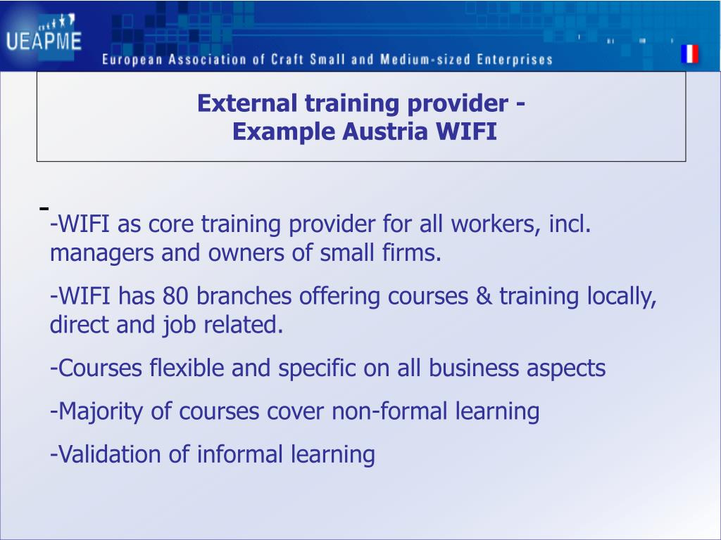 External training provider -