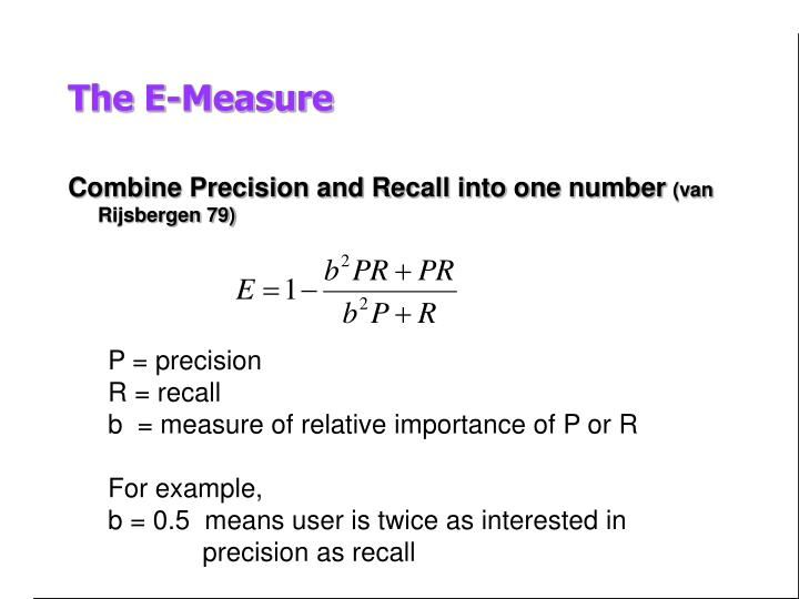 Combine Precision and Recall into one number
