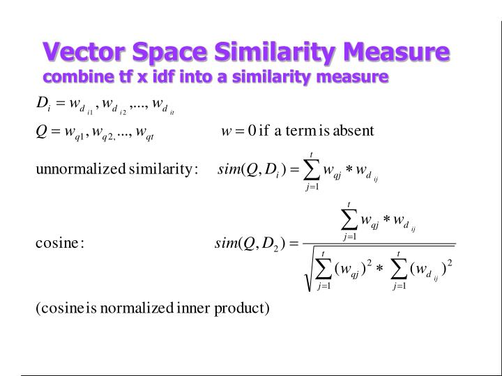 Vector Space Similarity Measure