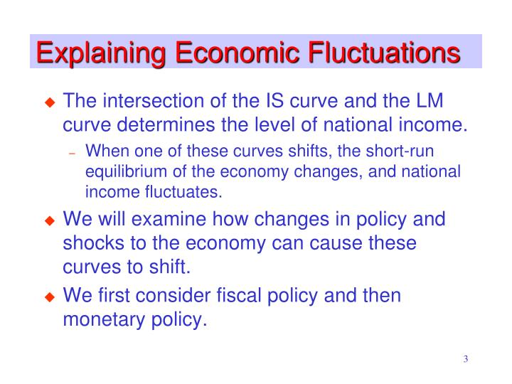 Explaining economic fluctuations