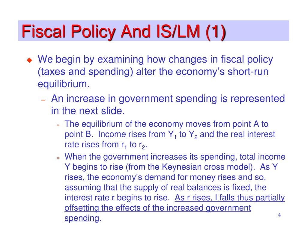 Fiscal Policy And IS/LM (1)