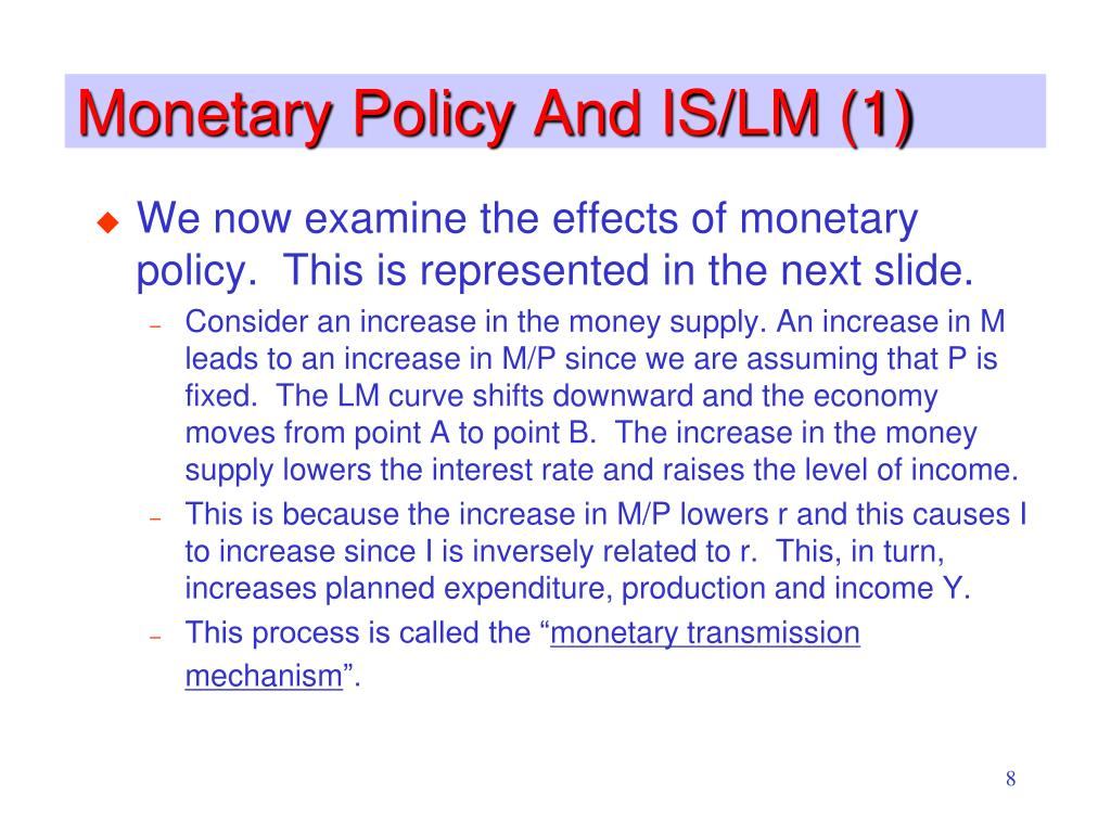 Monetary Policy And IS/LM (1)