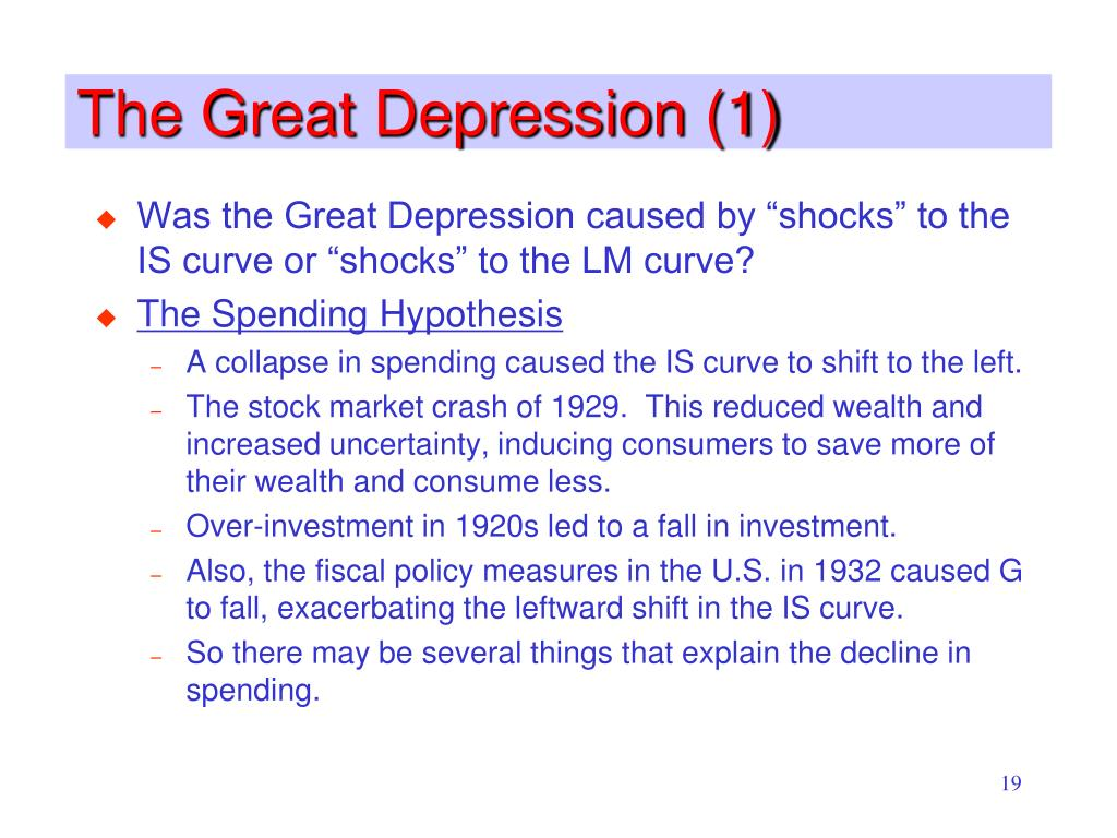 The Great Depression (1)