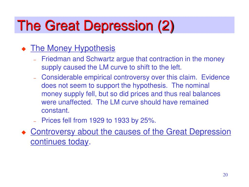 The Great Depression (2)