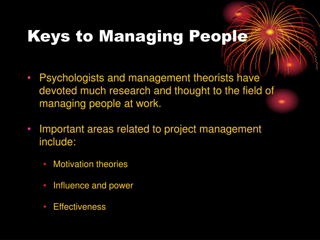 Keys to Managing People