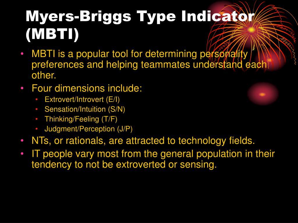 Myers-Briggs Type Indicator (MBTI)