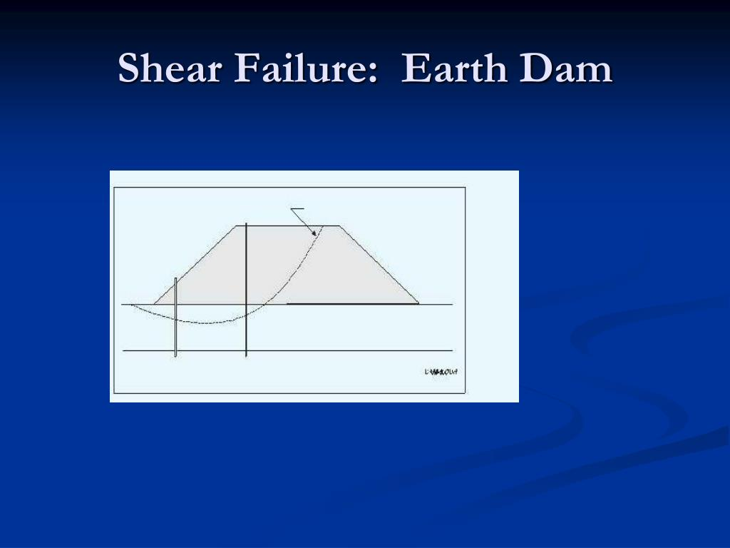 Shear Failure:  Earth Dam