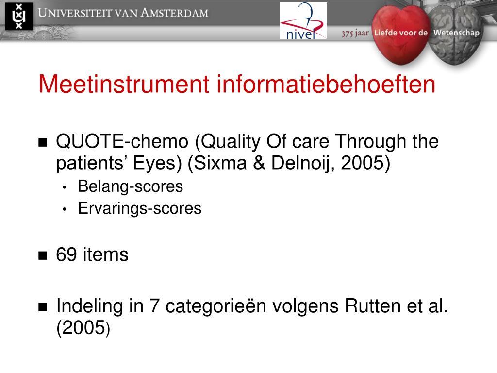 Meetinstrument informatiebehoeften