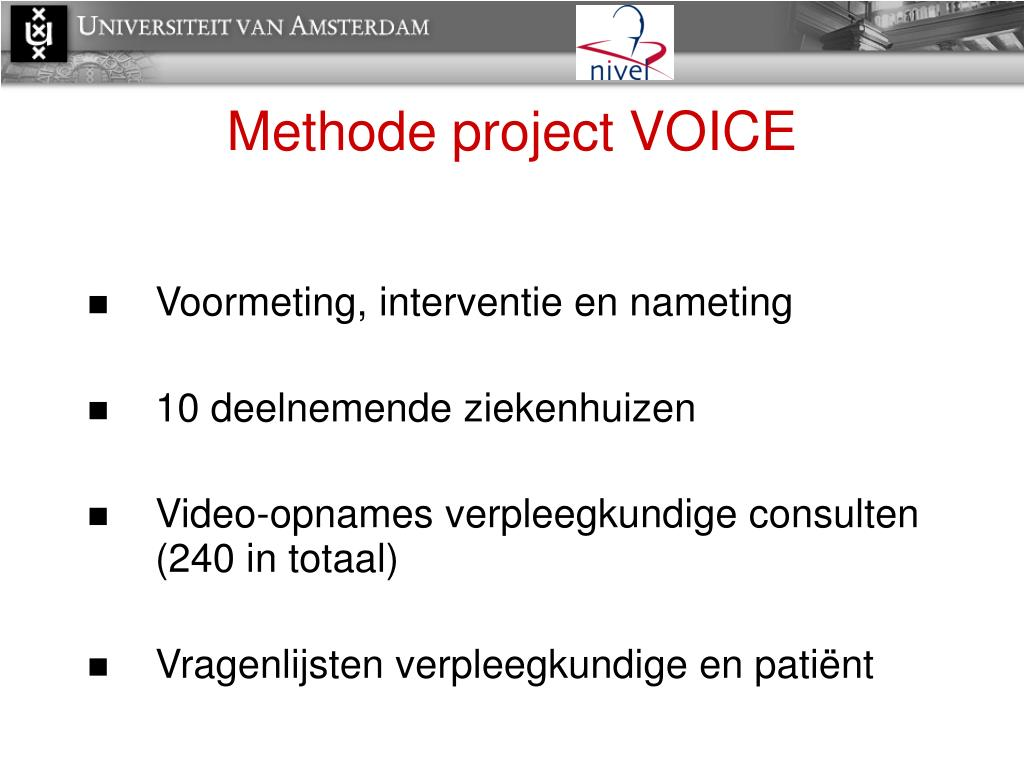 Methode project VOICE