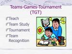 teams games tournament tgt