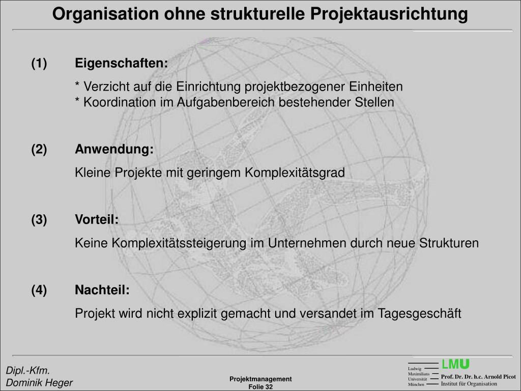 Organisation ohne strukturelle Projektausrichtung