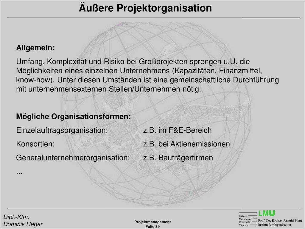Äußere Projektorganisation