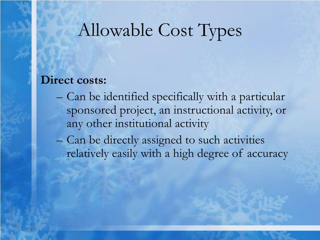 Allowable Cost Types