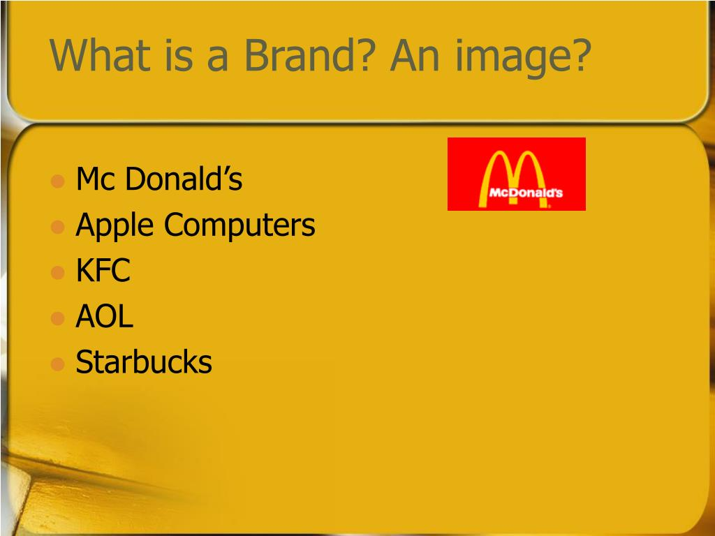 What is a Brand? An image?