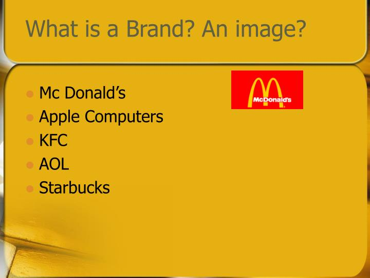 What is a brand an image