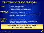 strategic development objectives