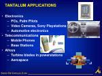 tantalum applications