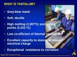what is tantalum