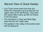 marxist view of great gatsby