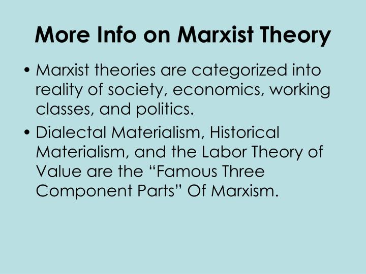 More info on marxist theory