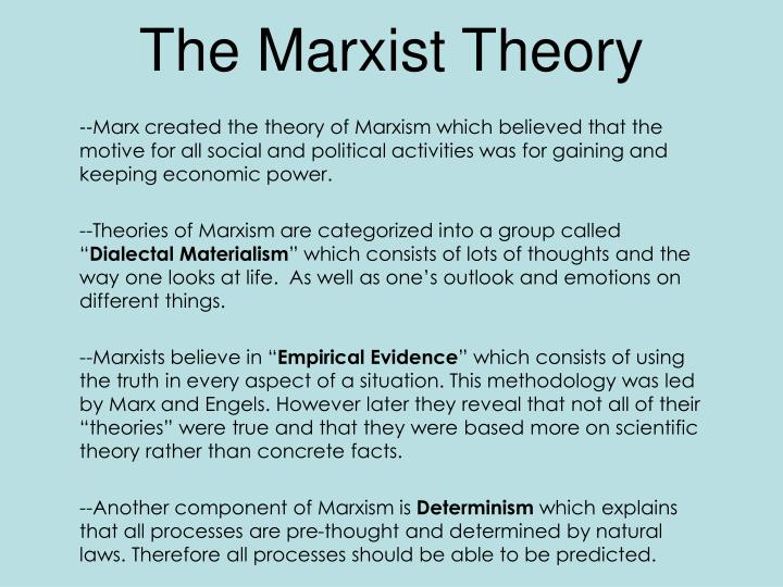 The marxist theory