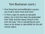tom buchanan cont