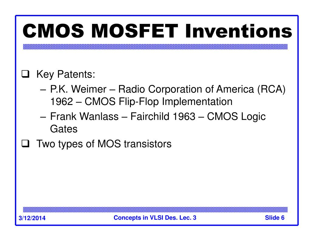 CMOS MOSFET Inventions