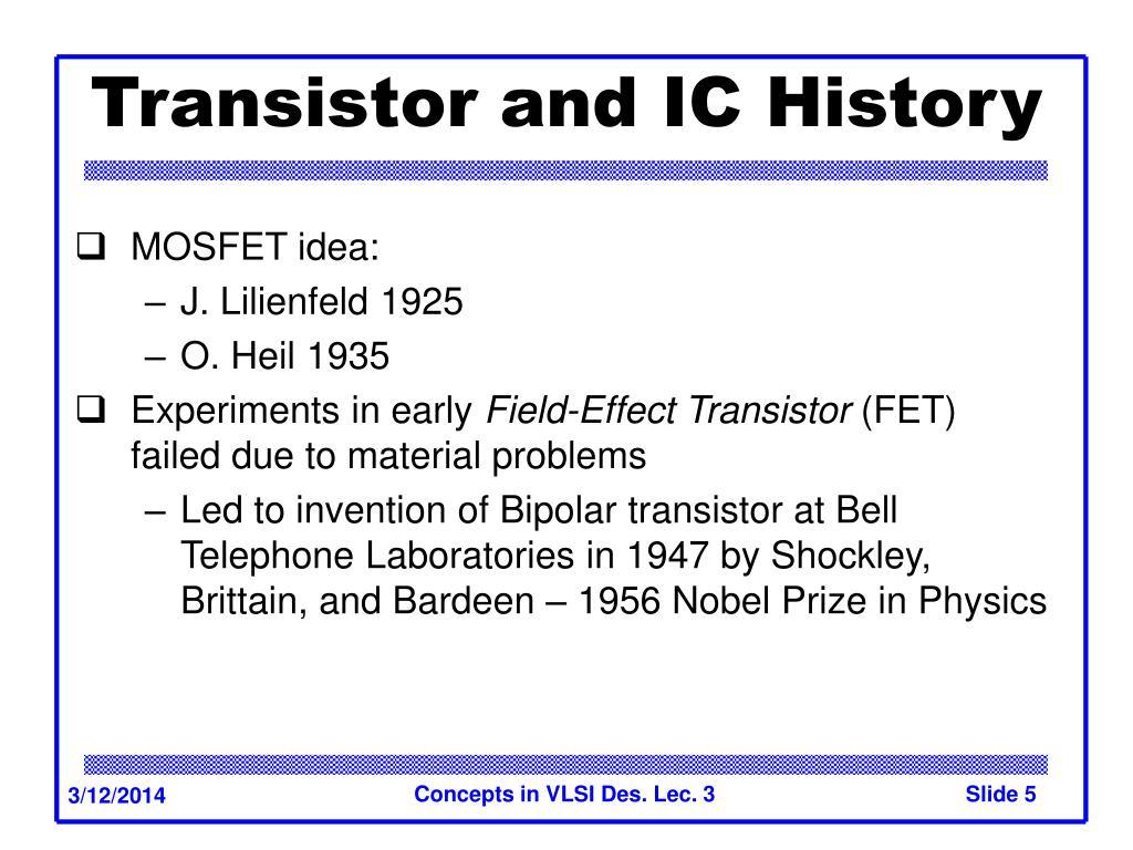 Transistor and IC History