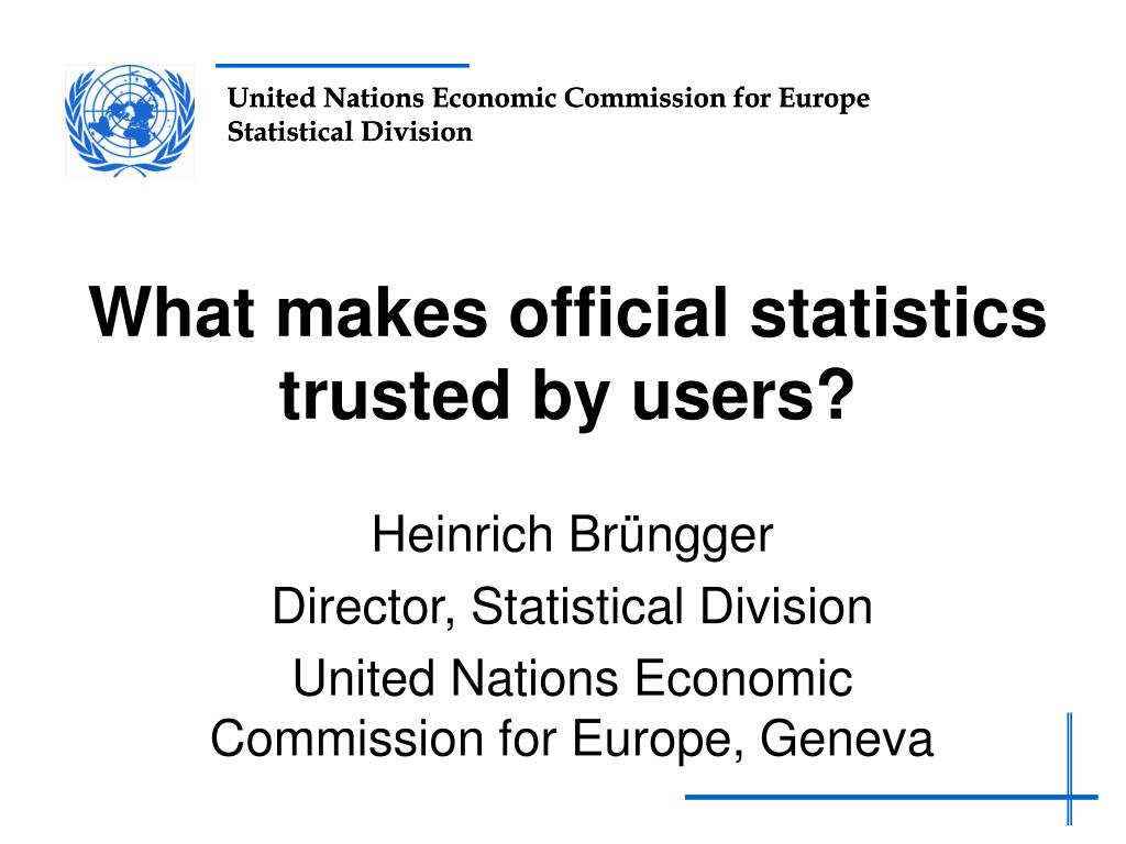 what makes official statistics trusted by users