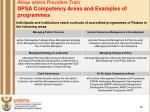areas where providers train dpsa competency areas and examples of programmes