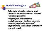 model ewolucyjny