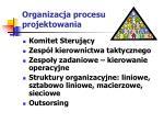 organizacja procesu projektowania