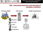 esp automated detection and reporting of notifiable conditions