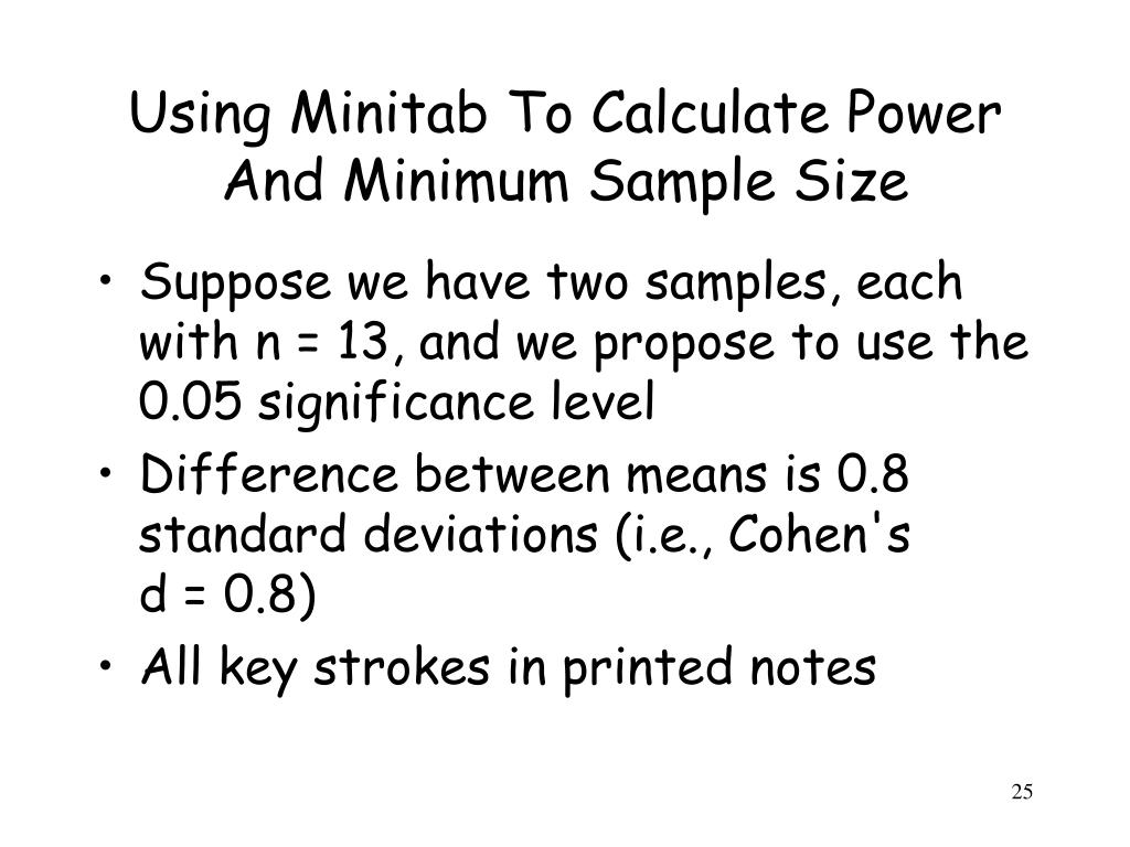 PPT - Statistical Power And Sample Size Calculations PowerPoint ...