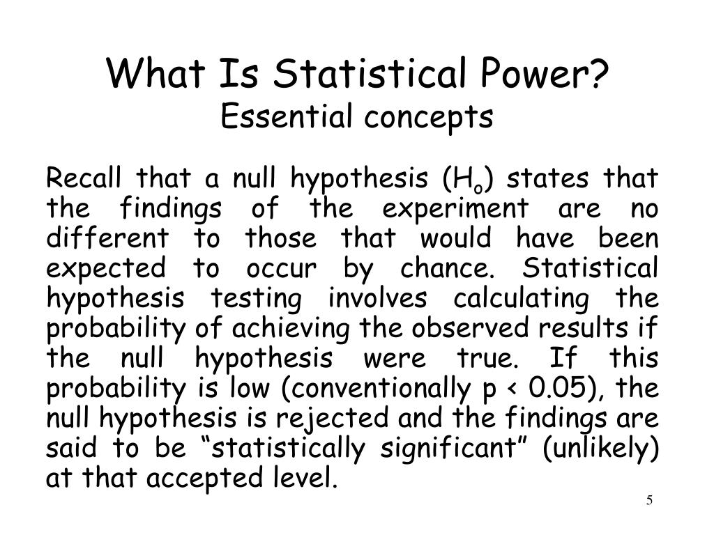Stating Null Hypothesis