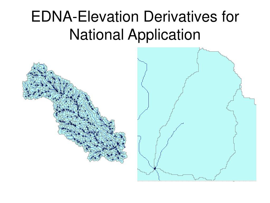 EDNA-Elevation Derivatives for National Application