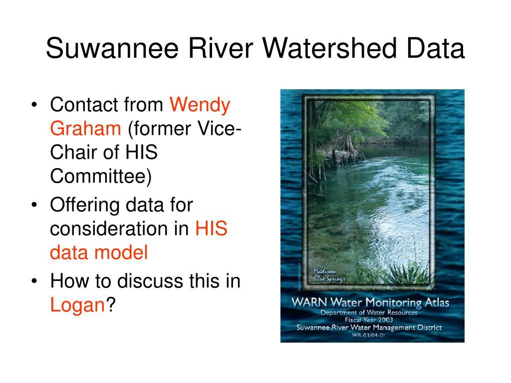 Suwannee River Watershed Data