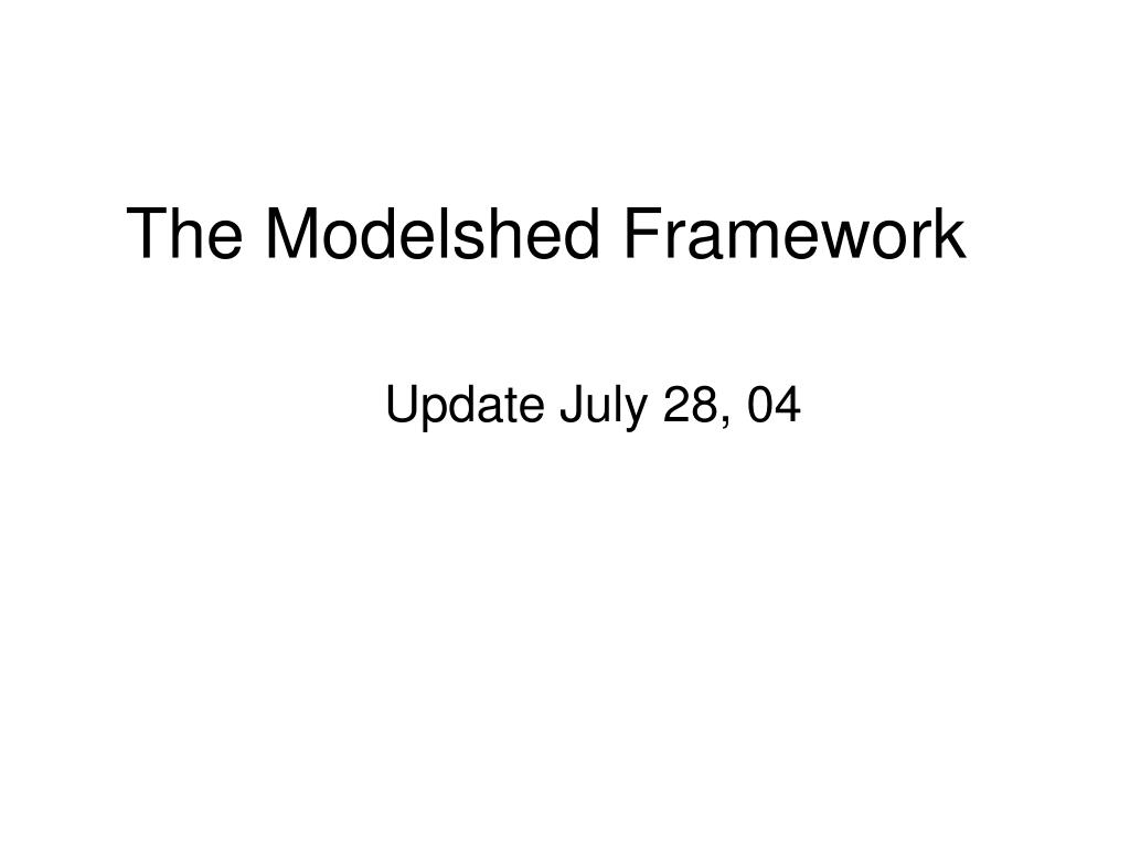 The Modelshed Framework