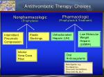 antithrombotic therapy choices