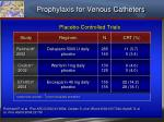 prophylaxis for venous catheters