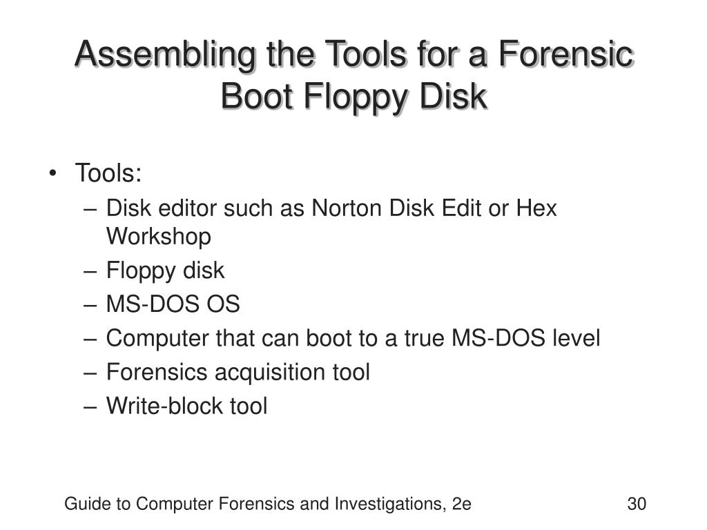 Assembling the Tools for a Forensic Boot Floppy Disk