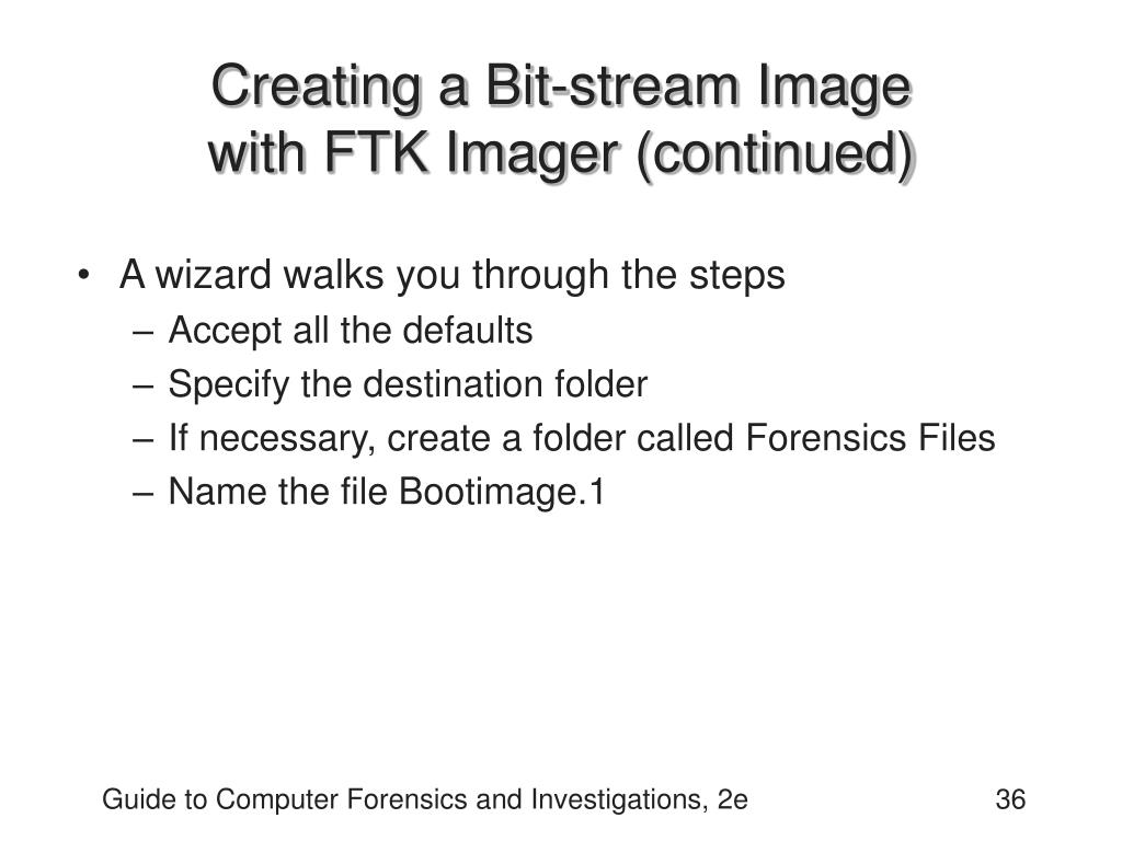 Creating a Bit-stream Image