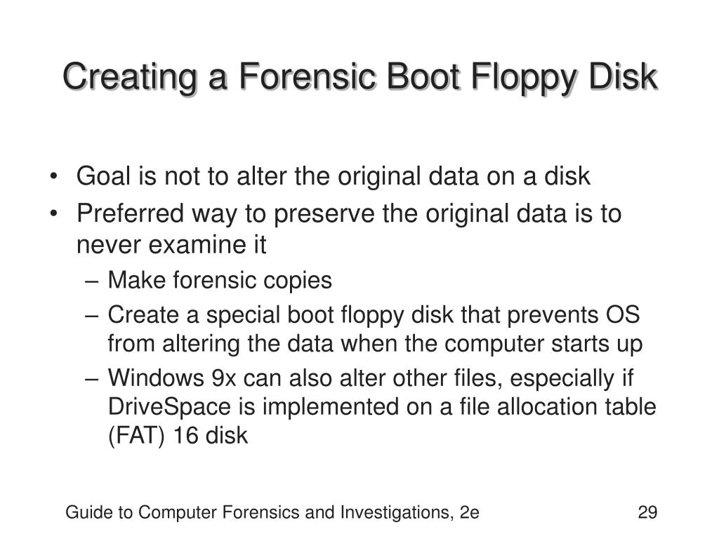 Creating a Forensic Boot Floppy Disk