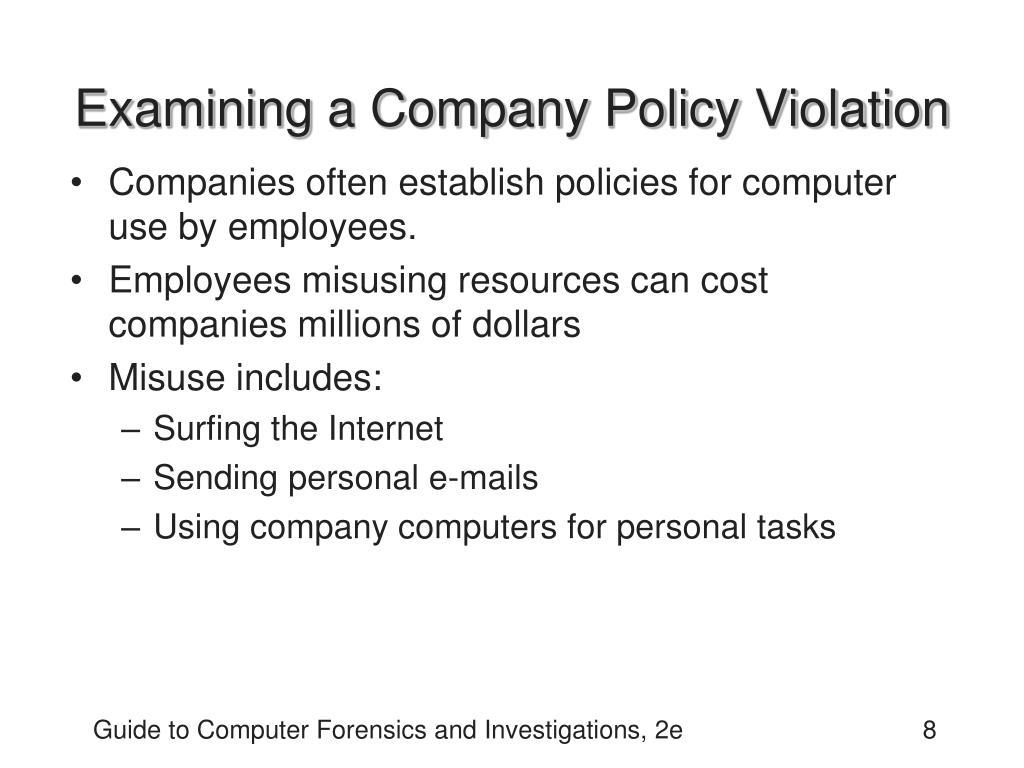 Examining a Company Policy Violation