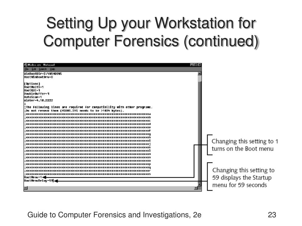 Setting Up your Workstation for Computer Forensics (continued)