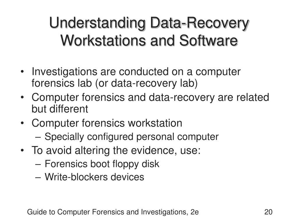 Understanding Data-Recovery Workstations and Software