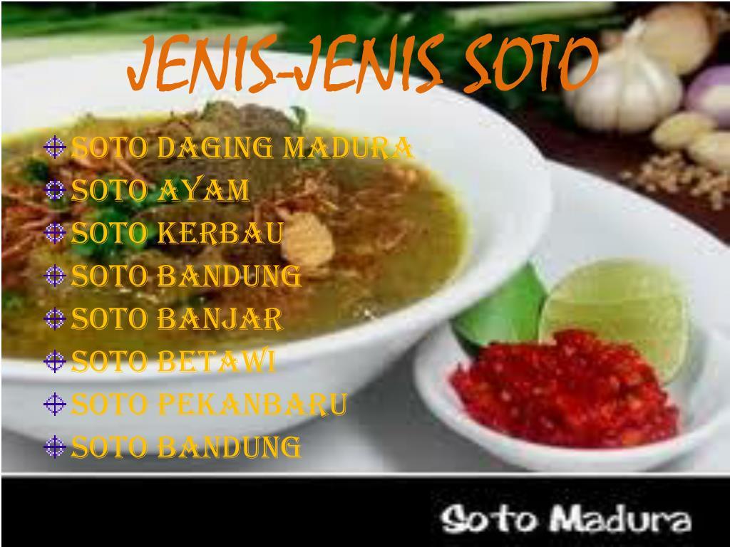 JENIS-JENIS SOTO